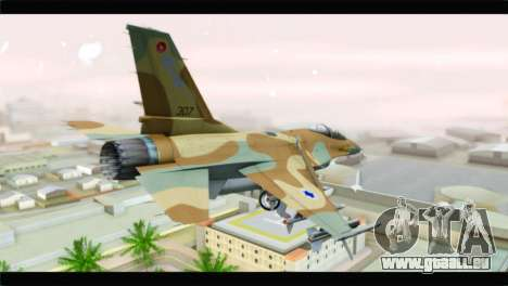 F-16A Netz für GTA San Andreas linke Ansicht