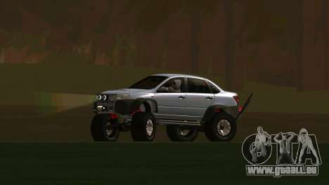VAZ 2190 Subvention pour GTA San Andreas vue de droite