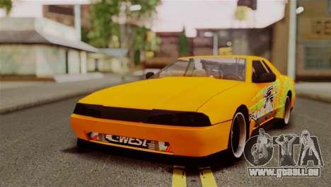 Elegy Full Customizing pour GTA San Andreas vue intérieure
