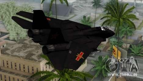 F-14 China Air Force für GTA San Andreas linke Ansicht