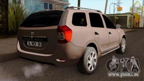 Dacia Logan MCV 2013 IVF pour GTA San Andreas laissé vue