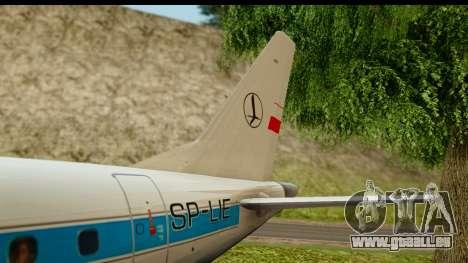 Embraer 175 PLL LOT Retro für GTA San Andreas Seitenansicht
