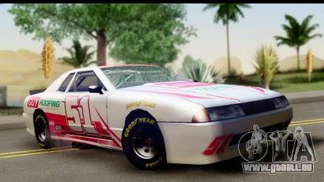 Elegy NASCAR pour GTA San Andreas vue intérieure