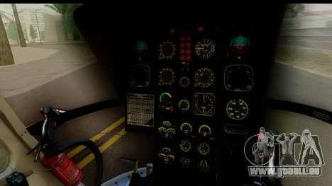 MBB Bo-105 Argentine Police pour GTA San Andreas vue arrière