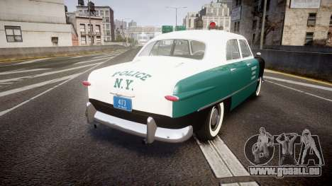 Ford Custom Fordor 1949 New York Police für GTA 4 hinten links Ansicht