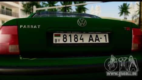 Volkswagen Passat B5 für GTA San Andreas rechten Ansicht