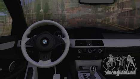BMW M5 E60 2009 Stock für GTA San Andreas rechten Ansicht