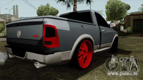 Dodge Ram QuickSilver pour GTA San Andreas laissé vue