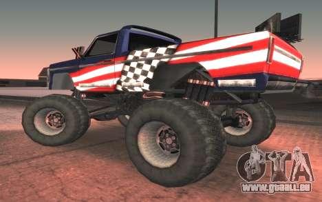 Neue Texturen Letzte Monster für GTA San Andreas linke Ansicht