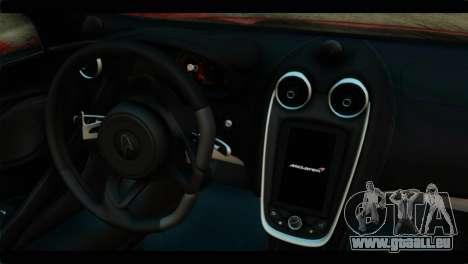 McLaren 570S 2015 für GTA San Andreas zurück linke Ansicht