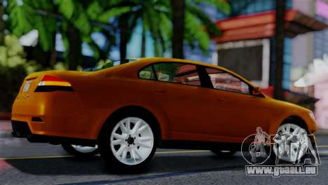 Vapid Interceptor v2 SA Style pour GTA San Andreas sur la vue arrière gauche
