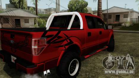Ford F150 Off Road für GTA San Andreas linke Ansicht
