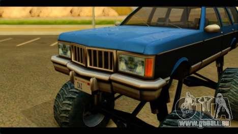 Monster Regina pour GTA San Andreas vue arrière
