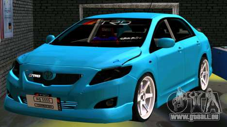 Toyota Corolla Altis für GTA San Andreas Rückansicht