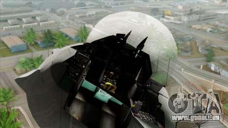 F-16C Jastrzab für GTA San Andreas Rückansicht
