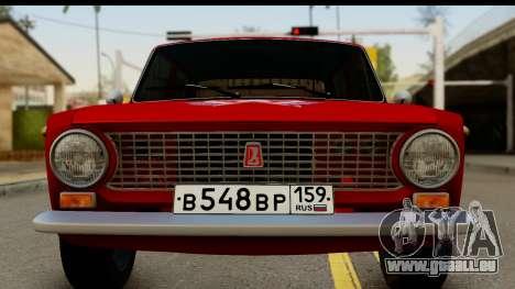 VAZ 2101 FOX pour GTA San Andreas sur la vue arrière gauche