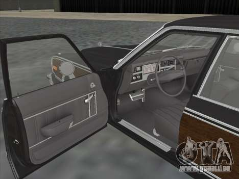 Plymouth Volare Wagon 1976 wood für GTA San Andreas Rückansicht