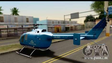 MBB Bo-105 KLM pour GTA San Andreas laissé vue
