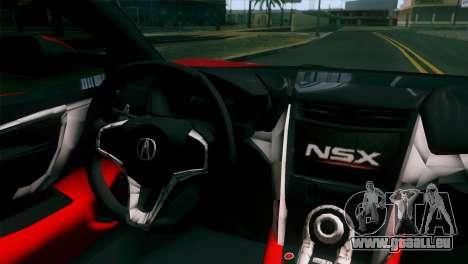 Nissan GT-R für GTA San Andreas Rückansicht