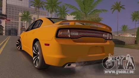 Dodge Charger SRT8 2012 Stock Version für GTA San Andreas zurück linke Ansicht