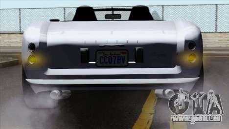 GTA 5 Grotti Stinger v2 IVF pour GTA San Andreas vue arrière