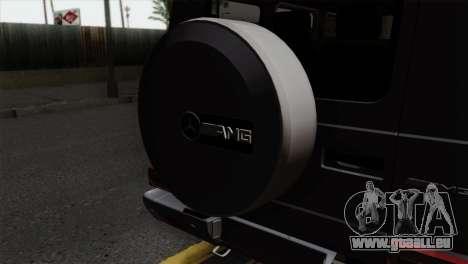 Mercedes-Benz G65 AMG Carbon Edition pour GTA San Andreas vue arrière
