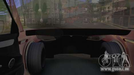 BMW M5 E60 2009 Stock für GTA San Andreas zurück linke Ansicht
