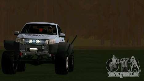 VAZ 2190 Gewähren für GTA San Andreas Rückansicht