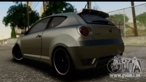 Alfa Romeo Mito Tuning pour GTA San Andreas laissé vue