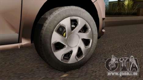 Dacia Logan MCV 2013 IVF pour GTA San Andreas sur la vue arrière gauche