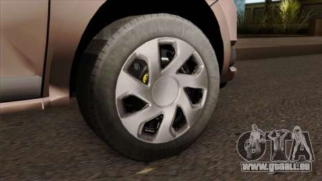 Dacia Logan MCV 2013 IVF für GTA San Andreas zurück linke Ansicht
