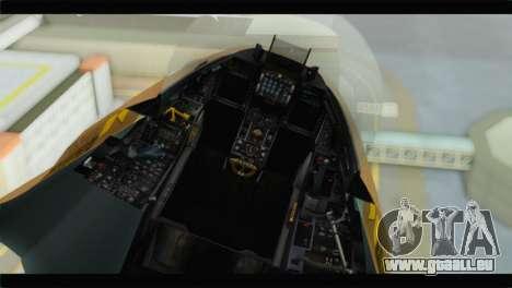 F-16A Netz für GTA San Andreas Rückansicht
