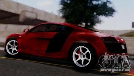 Audi R8 V10 v1.0 pour GTA San Andreas laissé vue