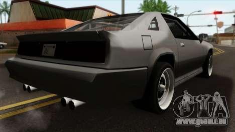 Buffalo Supercharged pour GTA San Andreas laissé vue