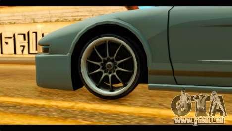 Infernus Rapide GTS Stock pour GTA San Andreas sur la vue arrière gauche