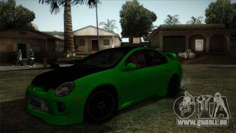 Dodge Neon SRT-4 Custom 2006 pour GTA San Andreas