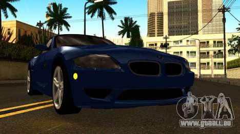 BMW Z4M Coupe 2008 pour GTA San Andreas vue intérieure