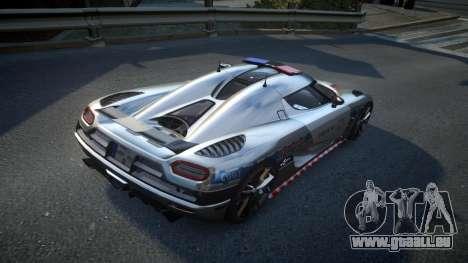 Koenigsegg Agera Polish Highway Patrol Police für GTA 4 rechte Ansicht
