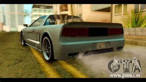 Infernus Rapide S pour GTA San Andreas laissé vue