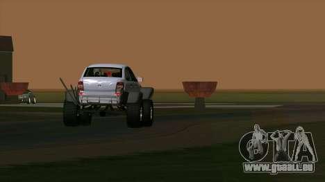 VAZ 2190 Subvention pour GTA San Andreas vue intérieure