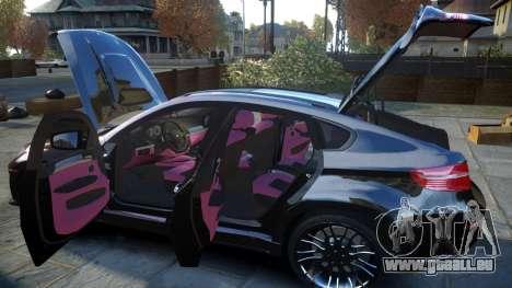 HAMANN BMW X6 2011 Tycoon EVO M v1.0 TSE pour GTA 4 vue de dessus