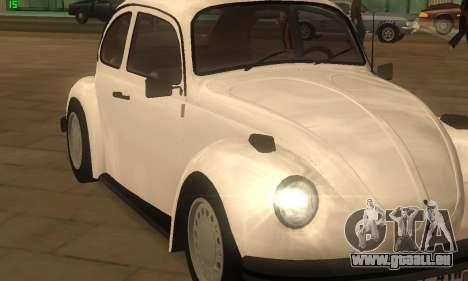 Volkswagen Beetle 1984 pour GTA San Andreas sur la vue arrière gauche