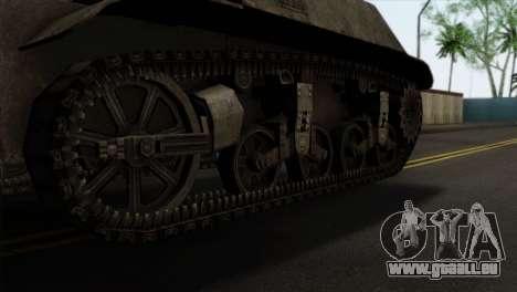 T57 Self Propelled Gun pour GTA San Andreas sur la vue arrière gauche