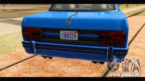 GTA 5 Benefactor Glendale Special für GTA San Andreas Rückansicht