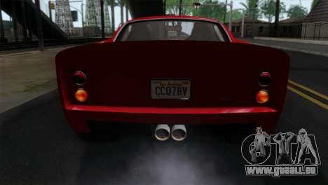 GTA 5 Grotti Stinger GT v2 IVF pour GTA San Andreas vue arrière