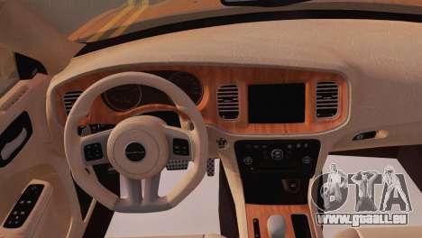 Dodge Charger SRT8 2012 Stock Version pour GTA San Andreas vue arrière