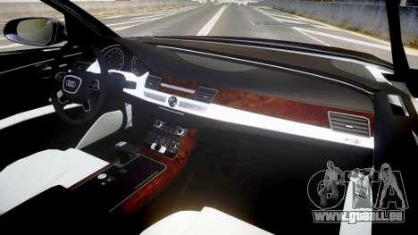 Audi A8 L 2015 Chinese style für GTA 4 Rückansicht