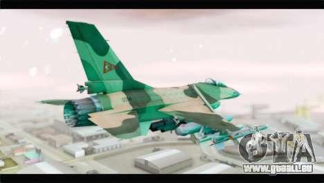 F-16A Fuerza Aerea Venezolana pour GTA San Andreas laissé vue