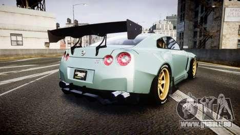 Nissan GT-R R35 Rocket Bunny [Update] pour GTA 4 Vue arrière de la gauche