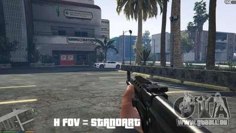 GTA 5 FOV mod v1.3 deuxième capture d'écran
